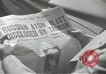 Image of Soviet Union first atomic bomb test revealed New York City USA, 1949, second 20 stock footage video 65675063476