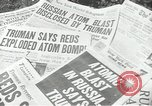 Image of Soviet Union first atomic bomb test revealed New York City USA, 1949, second 30 stock footage video 65675063476