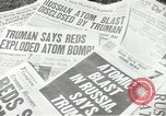 Image of Soviet Union first atomic bomb test revealed New York City USA, 1949, second 31 stock footage video 65675063476