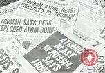 Image of Soviet Union first atomic bomb test revealed New York City USA, 1949, second 32 stock footage video 65675063476