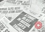 Image of Soviet Union first atomic bomb test revealed New York City USA, 1949, second 33 stock footage video 65675063476