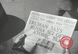 Image of Soviet Union first atomic bomb test revealed New York City USA, 1949, second 44 stock footage video 65675063476
