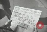 Image of Soviet Union first atomic bomb test revealed New York City USA, 1949, second 45 stock footage video 65675063476