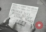 Image of Soviet Union first atomic bomb test revealed New York City USA, 1949, second 48 stock footage video 65675063476
