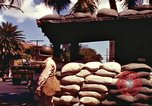 Image of Soldier standing guard at sandbagged post Honolulu Hawaii USA, 1942, second 13 stock footage video 65675063477