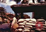 Image of Soldier standing guard at sandbagged post Honolulu Hawaii USA, 1942, second 14 stock footage video 65675063477