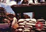 Image of Soldier standing guard at sandbagged post Honolulu Hawaii USA, 1942, second 15 stock footage video 65675063477