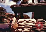 Image of Soldier standing guard at sandbagged post Honolulu Hawaii USA, 1942, second 16 stock footage video 65675063477