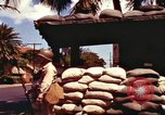 Image of Soldier standing guard at sandbagged post Honolulu Hawaii USA, 1942, second 18 stock footage video 65675063477