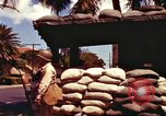 Image of Soldier standing guard at sandbagged post Honolulu Hawaii USA, 1942, second 19 stock footage video 65675063477