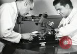 Image of Microscopic precision machining in a laboratory United States USA, 1954, second 30 stock footage video 65675063494