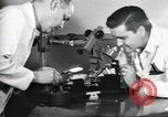 Image of Microscopic precision machining in a laboratory United States USA, 1954, second 34 stock footage video 65675063494