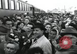 Image of Large crowd greets passenger arriving at train station Soviet Union, 1953, second 13 stock footage video 65675063498