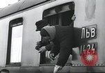 Image of Large crowd greets passenger arriving at train station Soviet Union, 1953, second 19 stock footage video 65675063498