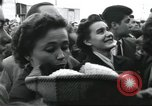 Image of Large crowd greets passenger arriving at train station Soviet Union, 1953, second 25 stock footage video 65675063498