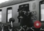 Image of Large crowd greets passenger arriving at train station Soviet Union, 1953, second 29 stock footage video 65675063498