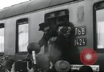 Image of Large crowd greets passenger arriving at train station Soviet Union, 1953, second 31 stock footage video 65675063498