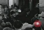 Image of Large crowd greets passenger arriving at train station Soviet Union, 1953, second 34 stock footage video 65675063498