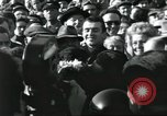 Image of Large crowd greets passenger arriving at train station Soviet Union, 1953, second 45 stock footage video 65675063498