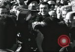 Image of Large crowd greets passenger arriving at train station Soviet Union, 1953, second 46 stock footage video 65675063498