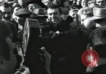 Image of Large crowd greets passenger arriving at train station Soviet Union, 1953, second 47 stock footage video 65675063498