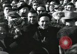 Image of Large crowd greets passenger arriving at train station Soviet Union, 1953, second 49 stock footage video 65675063498