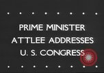 Image of Clement Richard Attlee Washington DC USA, 1945, second 2 stock footage video 65675063526