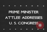 Image of Clement Richard Attlee Washington DC USA, 1945, second 5 stock footage video 65675063526