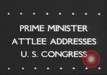 Image of Clement Richard Attlee Washington DC USA, 1945, second 6 stock footage video 65675063526