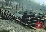 Image of blown railroad track Germany, 1945, second 10 stock footage video 65675063557
