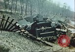 Image of blown railroad track Germany, 1945, second 11 stock footage video 65675063557