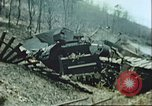 Image of blown railroad track Germany, 1945, second 12 stock footage video 65675063557