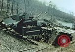 Image of blown railroad track Germany, 1945, second 13 stock footage video 65675063557