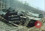 Image of blown railroad track Germany, 1945, second 14 stock footage video 65675063557