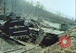 Image of blown railroad track Germany, 1945, second 15 stock footage video 65675063557