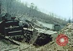 Image of blown railroad track Germany, 1945, second 16 stock footage video 65675063557