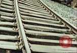 Image of blown railroad track Germany, 1945, second 17 stock footage video 65675063557