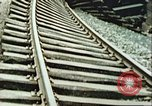 Image of blown railroad track Germany, 1945, second 18 stock footage video 65675063557