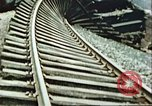 Image of blown railroad track Germany, 1945, second 19 stock footage video 65675063557