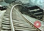 Image of blown railroad track Germany, 1945, second 20 stock footage video 65675063557