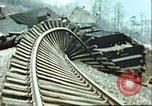 Image of blown railroad track Germany, 1945, second 21 stock footage video 65675063557