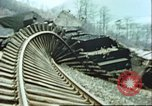 Image of blown railroad track Germany, 1945, second 22 stock footage video 65675063557