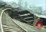 Image of blown railroad track Germany, 1945, second 23 stock footage video 65675063557