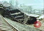 Image of blown railroad track Germany, 1945, second 24 stock footage video 65675063557
