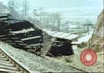 Image of blown railroad track Germany, 1945, second 25 stock footage video 65675063557