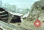 Image of blown railroad track Germany, 1945, second 27 stock footage video 65675063557