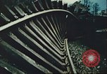 Image of blown railroad track Germany, 1945, second 28 stock footage video 65675063557