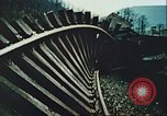 Image of blown railroad track Germany, 1945, second 29 stock footage video 65675063557