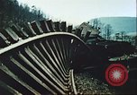 Image of blown railroad track Germany, 1945, second 30 stock footage video 65675063557