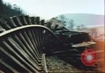Image of blown railroad track Germany, 1945, second 31 stock footage video 65675063557